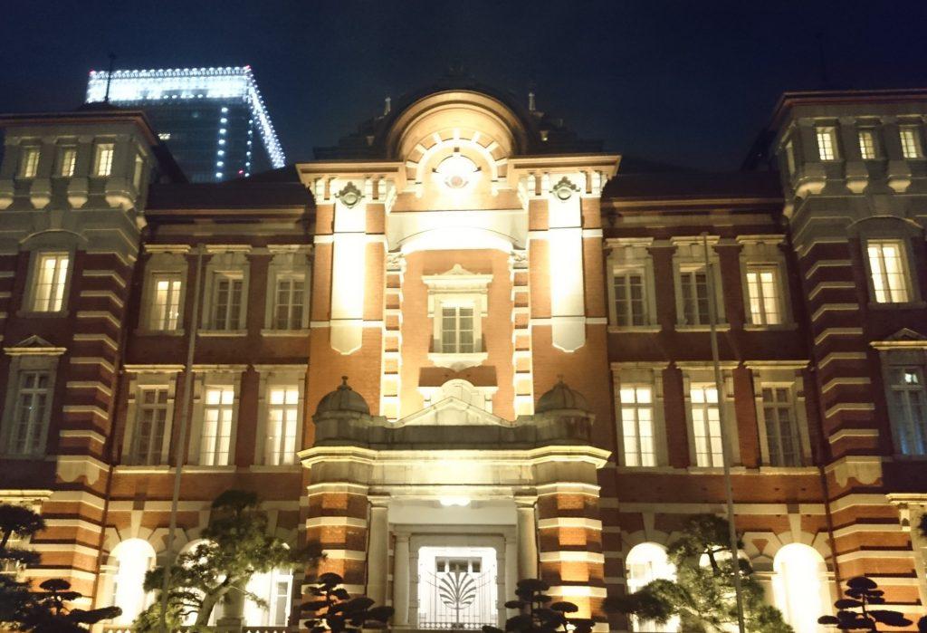 東京都の写真(東京駅正面・夜)